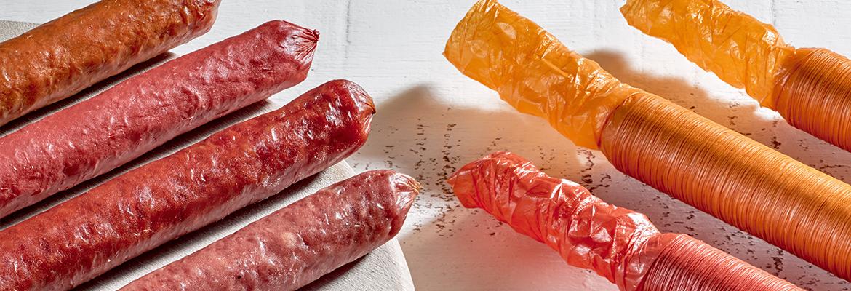 Viscofan collagen casings fresh procesed sausages